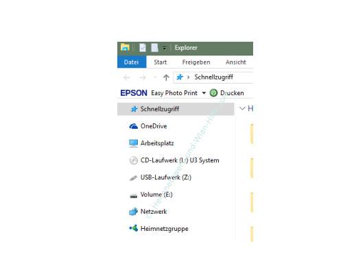 Die neuen Funktionen des neuen Windows 10 Explorers – Standardansicht des geöffneten Explorers