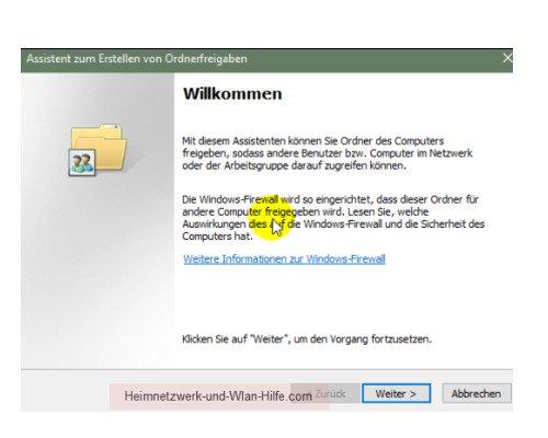Windows 10 Tutorial: Alle Freigaben anzeigen – Der Assistent zum Erstellen von Ordnerfreigaben