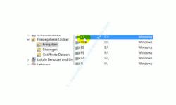 Windows 10 Tutorial: Alle Freigaben anzeigen – Computerverwaltung, Aufgelistete Freigaben
