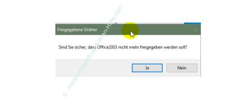 Windows 10 Tutorial: Alle Freigaben anzeigen – Warnhinweis bei Aufhebung einer Freigabe