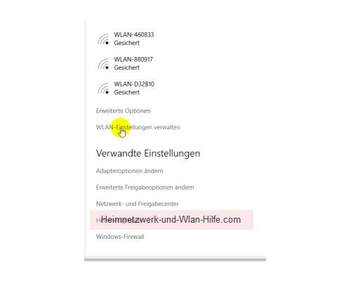 Windows 10 - Die neuen Netzwerkkonfigurationsmenüs – Weitere Verlinkungen im Netzwerk und Internetmenü
