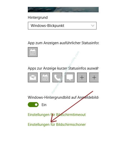 Windows 10 Tutorial- Sperrbildschirm konfigurieren – Option, Einstellungen für Bildschirmschoner
