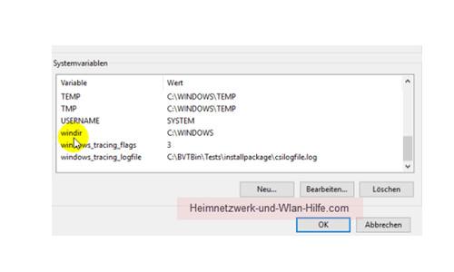 Windows 10 - Temporäre Dateien finden und entfernen – Die Systemvariablen anzeigen