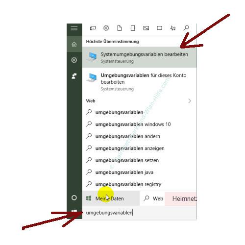 Windows 10 - Temporäre Dateien finden und entfernen – Umgebungsvariablen mit Cortana suchen