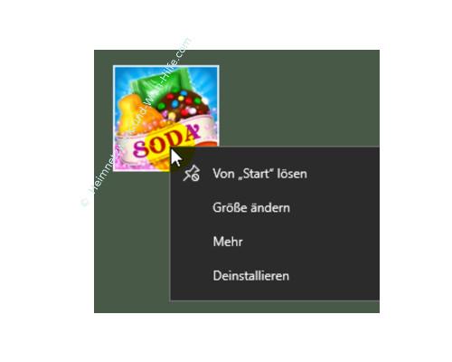 Nervige Werbe-Apps aus dem Windows 10 Startmenü entfernen – Der Befehl von Start lösen
