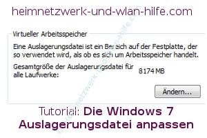 Die Windows 7 Auslagerungsdatei anpassen