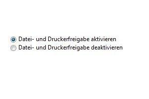 Windows 7 Dateien und Drucker freigeben