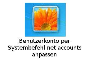 Kennwortänderung mit net accounts