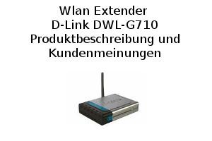 Wlan Extender D-Link DWL-G710 - Produktbeschreibung und Kundenmeinungen
