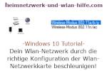 Windows 10  Tutorial - Dein Wlan-Netzwerk durch die richtige Konfiguration der Wlan-Netzwerkkarte beschleunigen!