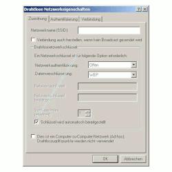 Wlan-Netzwerk Anleitungen: Wlan-Netzwerkkarte konfigurieren! Fenster Drahtlose Netzwerkeigenschaften