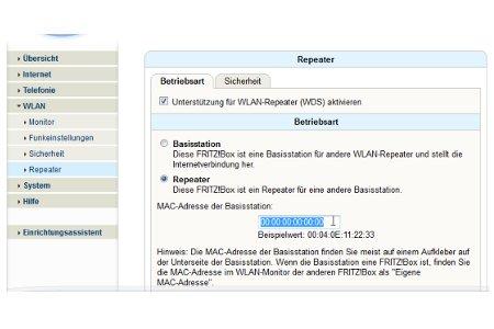 Wlan-Netzwerk Tutorial: Wlan Router als Wlan Repeater konfigurieren - Repeaterfunktion aktivieren