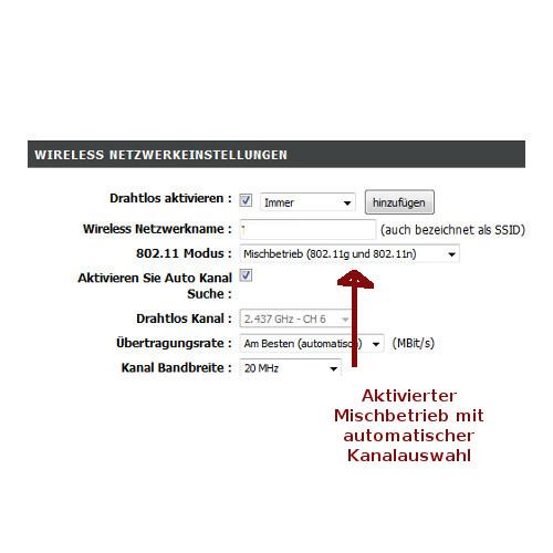 WLAN-Tipps: WLAN-Netzwerktempo optimieren! WLAN Netzwerk im Mischbetrieb