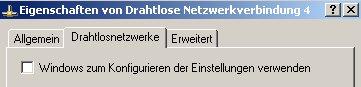 Wlan-Netzwerk Anleitungen: Wlan-Netzwerkkarte konfigurieren! Fenster WLAN-Adapter Eigenschaften - Kein Häcken bei Windows zum Konfigurieren der Einstellungen verwenden