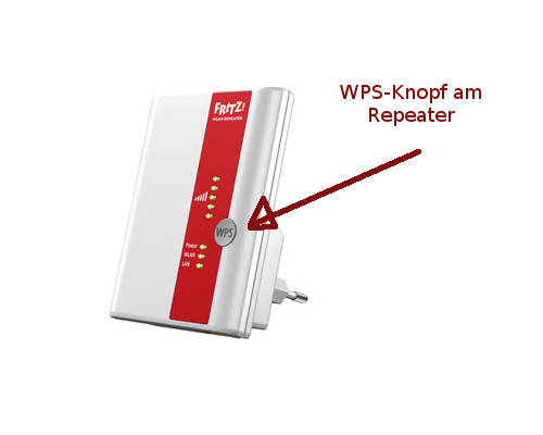 WPS-Knopf am Repeater