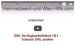 Youtube Video Tutorial - DSL Verfügbarkeitstest 1&1