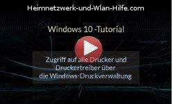 Zugriff auf Drucker und Druckertreiber über die Windows 10 Druckverwaltung - Youtube Video Windows 10 Tutorial