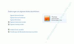 Windows Anleitungen: Schneller Zugriff auf das eigene Benutzerkonto - Konfigurationsmenü des eigenen Windows Benutzerkontos